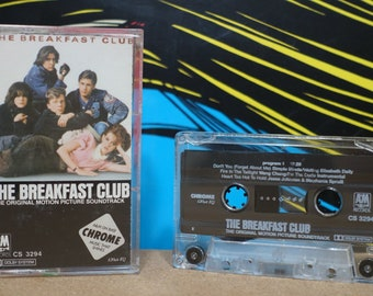 The Breakfast Club (The Original Motion Picture Soundtrack) by Various Artists Vintage Cassette Tape