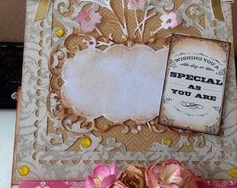 OOAK Easel Card - 'Special as you are'