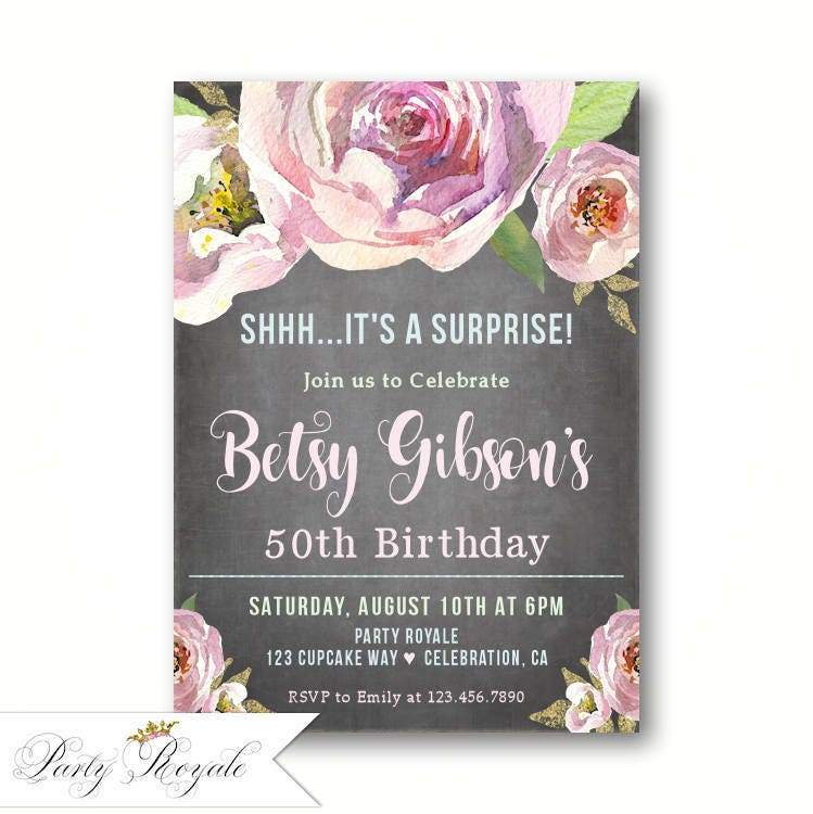 Surprise 50th Birthday Invitations Surprise Party