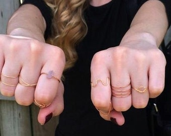 Rose gold midi ring, gold midi ring knuckle rings, wrap ring criss cross knot ring silver midi ring, boho rings, amethyst ring, chevron ring