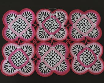 Place Mat - Pink & White