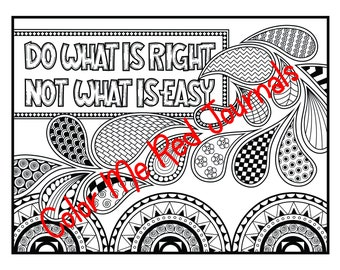 Motivating Quotes Adult Coloring Book - 35 Detailed Coloring Pages with Quotes