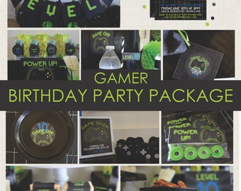 Gamer Party Package / Playstation Party / Xbox / Game Truck / Video Game Party / Printable Party Decorations / Gaming Party Package