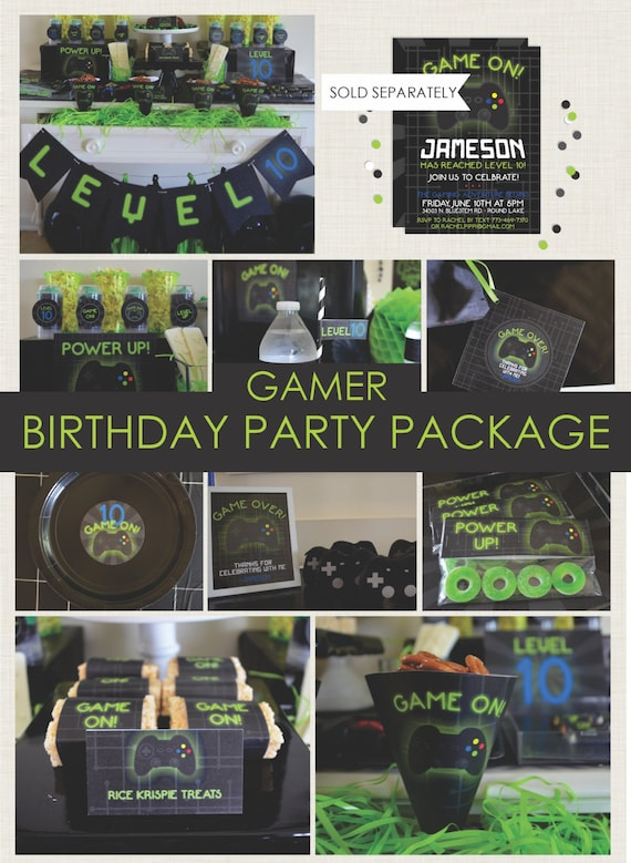 Gamer party package playstation party xbox game truck for Deco xbox one