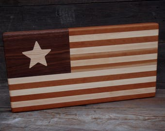 Handmade Flag Large Cutting Board
