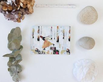 """Postcard """"Sur la glace"""" 10,5x14,7cm"""
