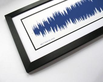 Better Place by Rachel Platten - Sound Wave Wall Art Print Design