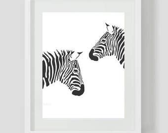 BUY 2, GET 1 FREE!Sweet Home Black and White Zebra 073 Cross Stitch Pattern Counted Cross Stitch Chart,Pdf Format, Instant Download / 115148