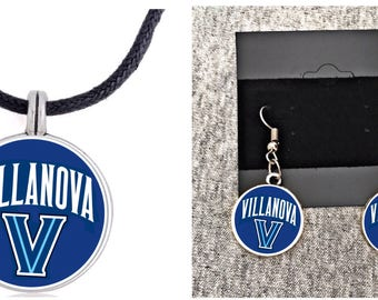 NCAA Villanova Wildcats Earring and Necklace set