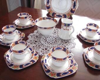 Vintage Imari Pattern English China Teaset