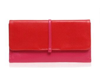 Womens wallet, leather wallet, women leather wallet, leather wallet purse, credit card wallet, Nordau wallet