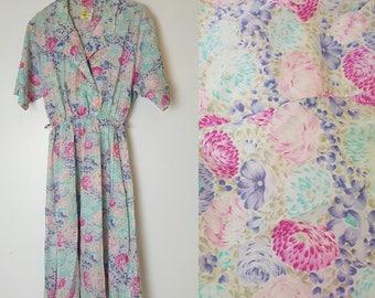 Vintage Floral Tea Dress