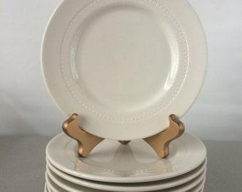 Vintage Syracuse Plates - set of 8 salad plates | restaurant ware plates, diner plates, restaurant china plates, dessert plate set