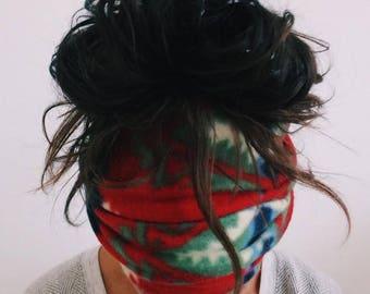 Aztec Headband, Mask | Dreadband, Hair Tube, Dread Sock, Loc Wrap, Wide Head Band | Long, Dreadlock, Updo, Hair Wrap | Eco Friendly Headband