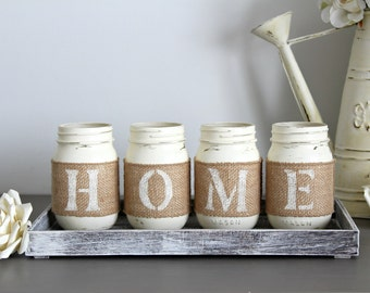 Kitchen Table Centerpiece-Rustic Table Decor-Rustic Home Decor-Housewarming Gift-Hostess Gift-Farmhouse Decor-Rustic HOME Sign-Mantel Decor