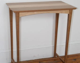 Cherry and Bird's Eye Maple Console Table