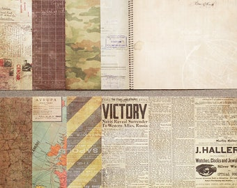 Scrapbooking paper set, non didgital scrapbooking paper pack, 8 pieces in lot, designer paper scrap set of 8, S03
