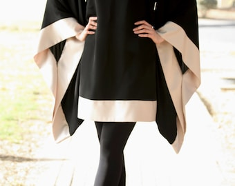 Kimono Tunic / Maxi Tunic / Plus Size Tunic / Plus Size Top / Kimono Sleeves Tunic / Loose Top / Loose Tunic / Modest Tunic / Loose Fit Top