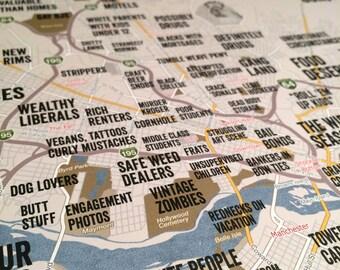 "Judgmental Map of Richmond Virginia 18""x24"" print"