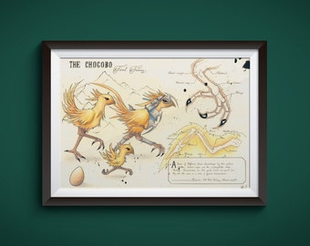 Large - Chocobo - Final Fantasy Art Print