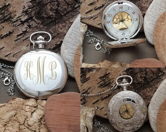 PW Best Man Pocket Watch Gift Groomsmen Engraved Pocket Watch Gift Personalized Monorgram Pocket Watch Gift For Bridal Party