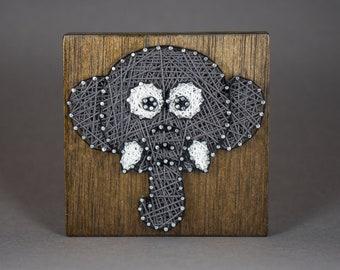 "Elephant String Art - 4"""