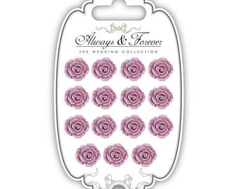 15 self-adhesive resin - Mauve (15x16mm) - AFRFLR003 flowers