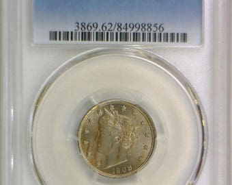 1908 Liberty Nickel PCGS MS-62