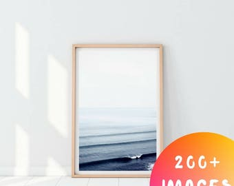 Ocean Photography, Ocean Printable Print, Ocean Wall Art, Minimalist Ocean Print, Ocean Waves Print, Sea print, Beach house Print