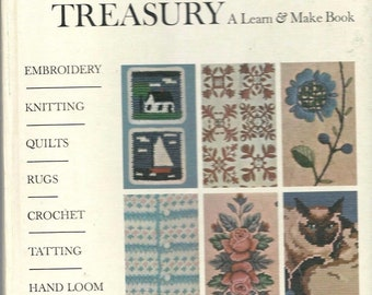 McCall's Needlework Treasury A Learn and Make Book Knit, Crochet, Hardcover