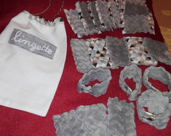 Set of Remover wipes washable fleece + storage bag