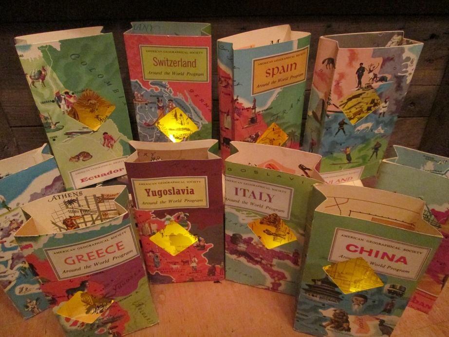 Travel Centerpieces 5 Travel Themed Travel Book Luminaries