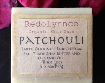 Patchouli--Organic Goat's Milk Soap Bar Made with Essential Oil