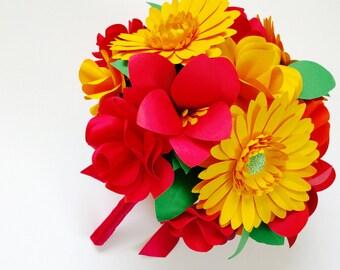 Paper Flower Brides Bouquet
