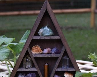 Triangle Crystal Display Shelf