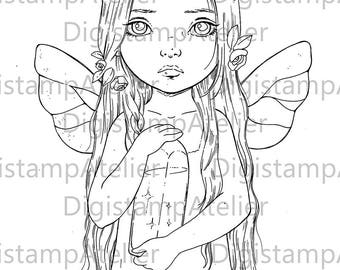 Lights coloring page. INSTANT DOWNLOAD Digital Digi Stamps