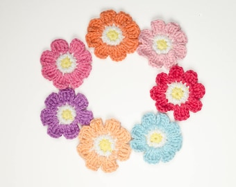 Crochet Flower Pattern | Flower Applique | PDF digital download