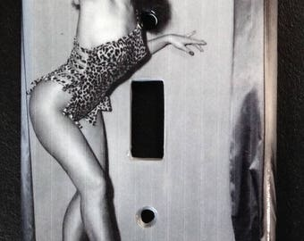 light switch cover plate: Bettie Page