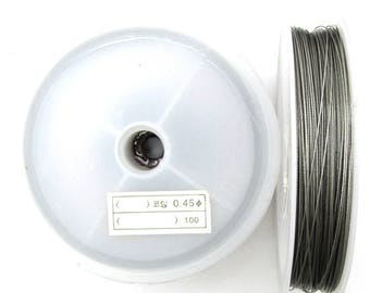"""Stainless steel beading wire .045"""" strand 70 ft clear 12470"""