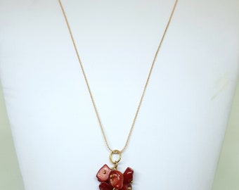 Gemstone cluster necklace - Available in Multiple colours