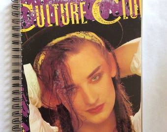 for the Culture Club - Kissing To Be Clever  LP fan /TV Album Cover Notebook vintage