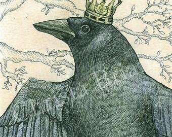"""Print - """"Raven King"""""""