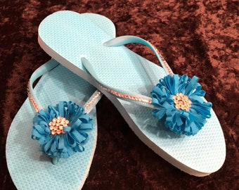 NEW!! Turquoise flip flop