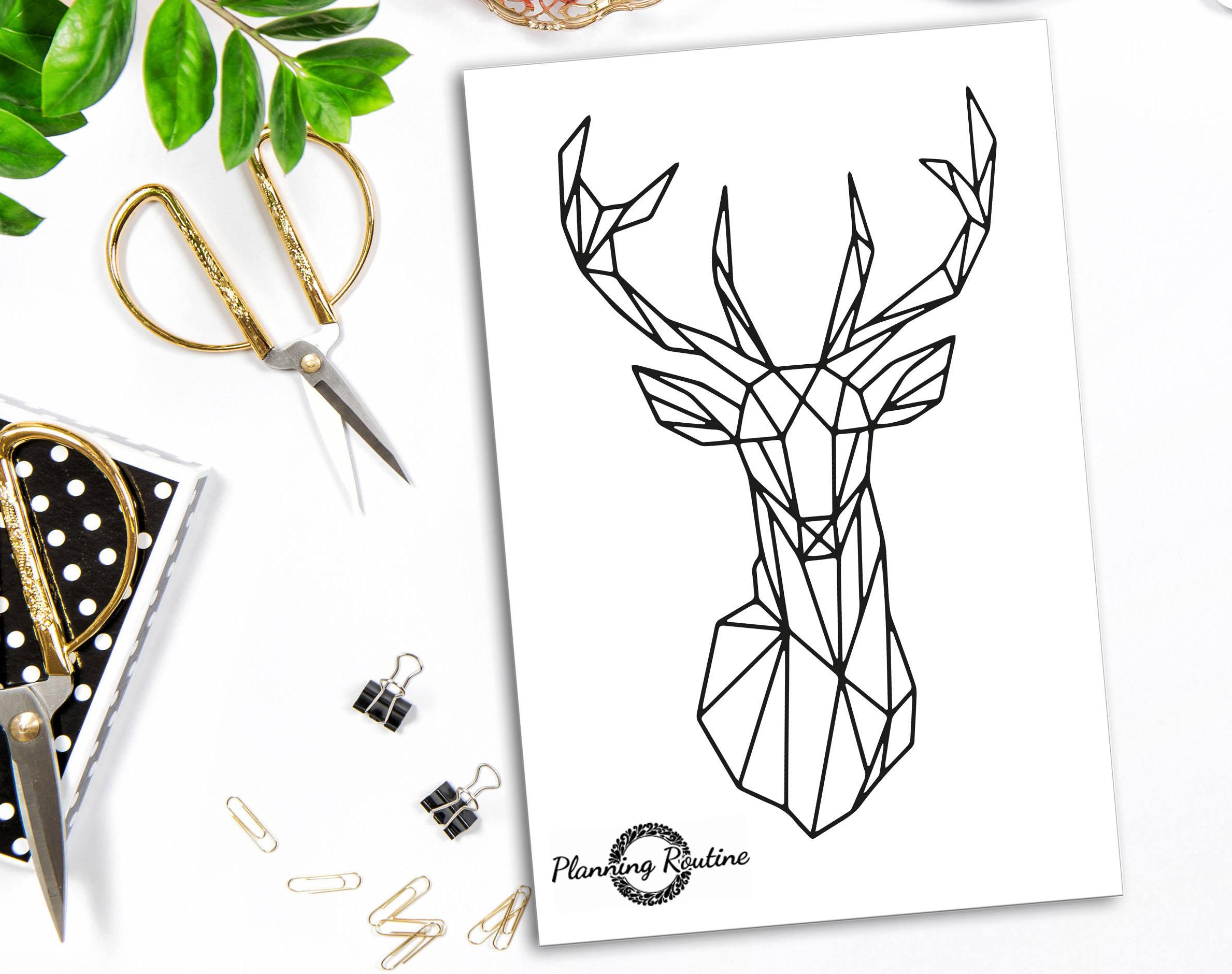 Animales ciervos, arte geométrico, ciervos geométrica, arte de ...