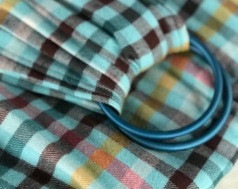 Brushed Cotton Cozy Hipster Plaid Ring Sling- Baby Wrap - Babywearing - Baby Sling - New Mom Gift - Newborn - Toddler - Baby Carrier