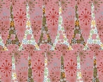 Blank Quilting Sparkling Paris, Pink Eiffel Tower, 1 Yard