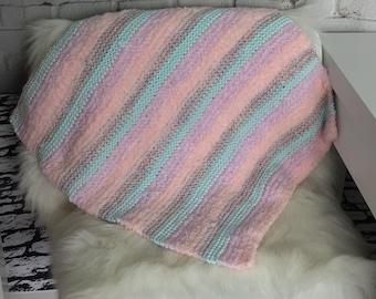 Knit pet blanket / cat blanket / dog blanket / gift for dog / gift for cat / pet bedding / furniture saver / handmade pet gift / boho pets