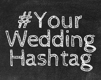 Wedding day hashtag etsy