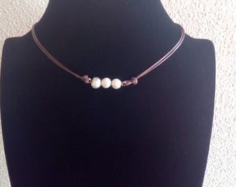 3 pearl chocker necklace