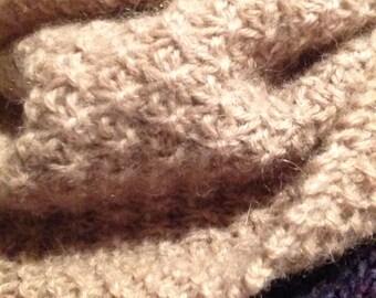 100% Alpaca wool hand knitted cowl